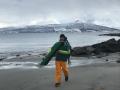 snowboard beach walk