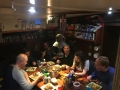 Abendessen Arktis splitboardtrip