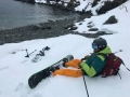 beach finish after freeride in lyngen norway