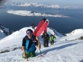 boothiking with crampons in norway