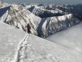 Splitboard Aufstieg Georgien Kaukasus