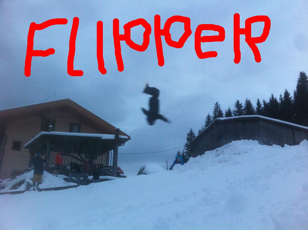 Backflip snowboard