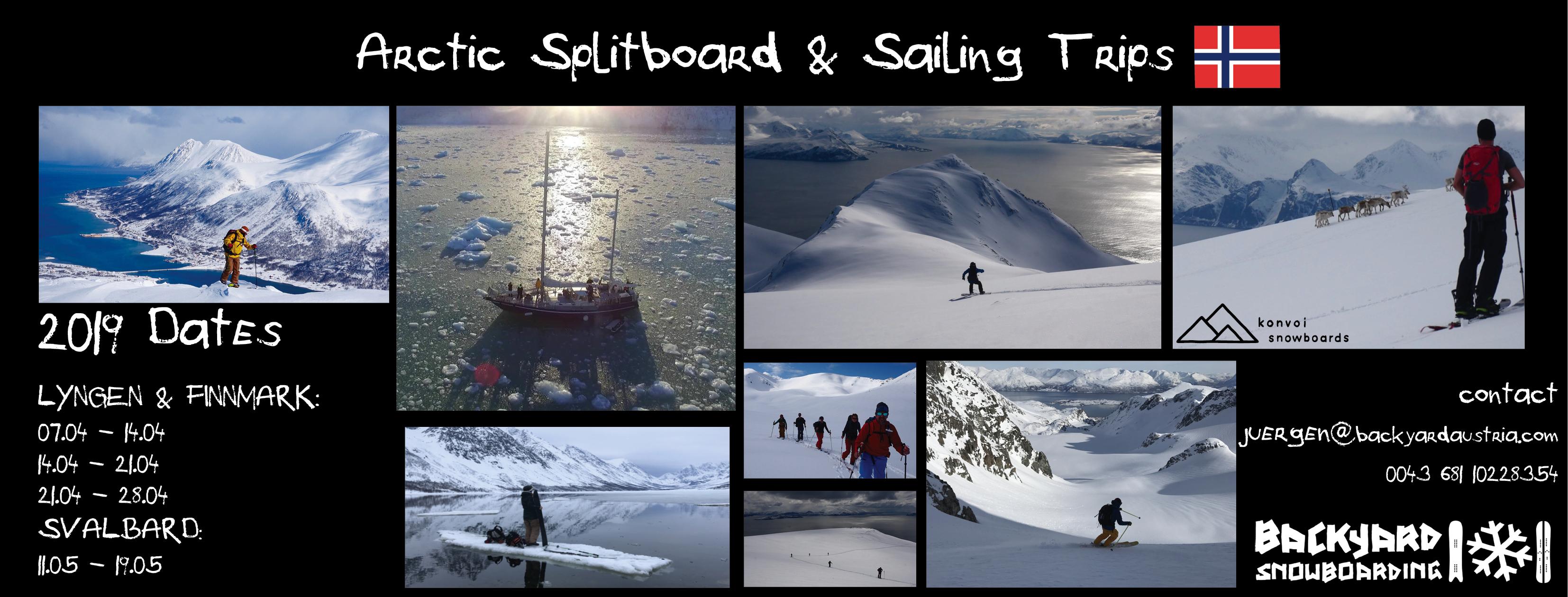 Lyngen Splitboard Splitboarding Sailing Trip