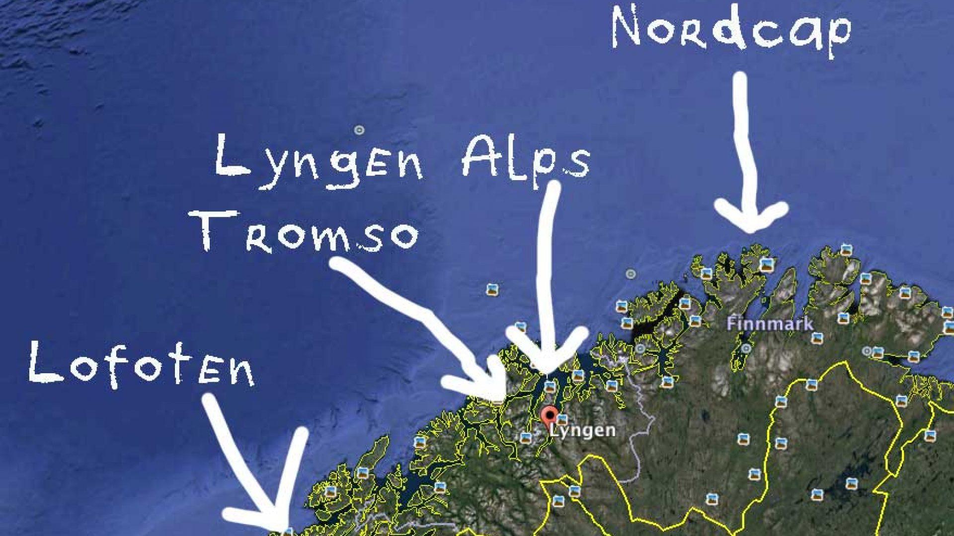 Splitboarding Lyngen