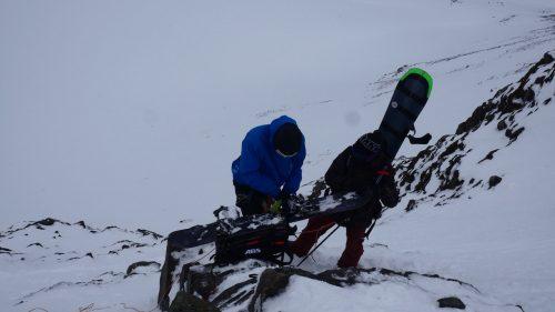 abseilen lyngen snowboardtour