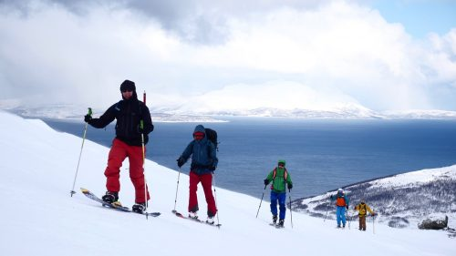 split board touring lyngen alps