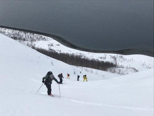 aufstieg splitboardtour Norwegen