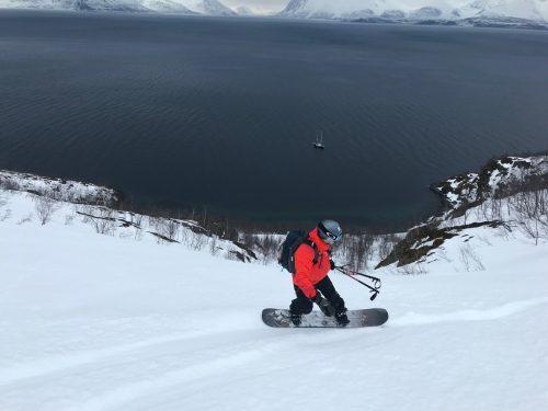 segeln und splitboarden Norwegen langen