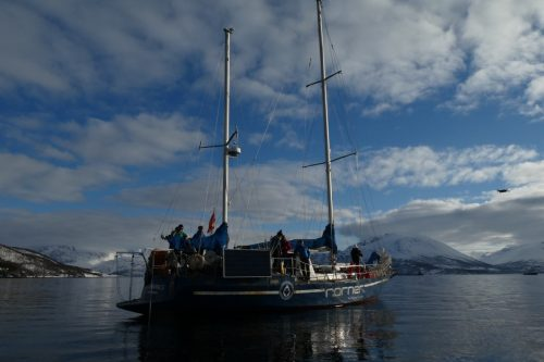 arctic sail and splitboard