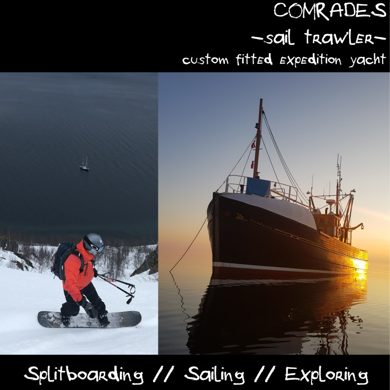 comrades splitboard expeditions boat