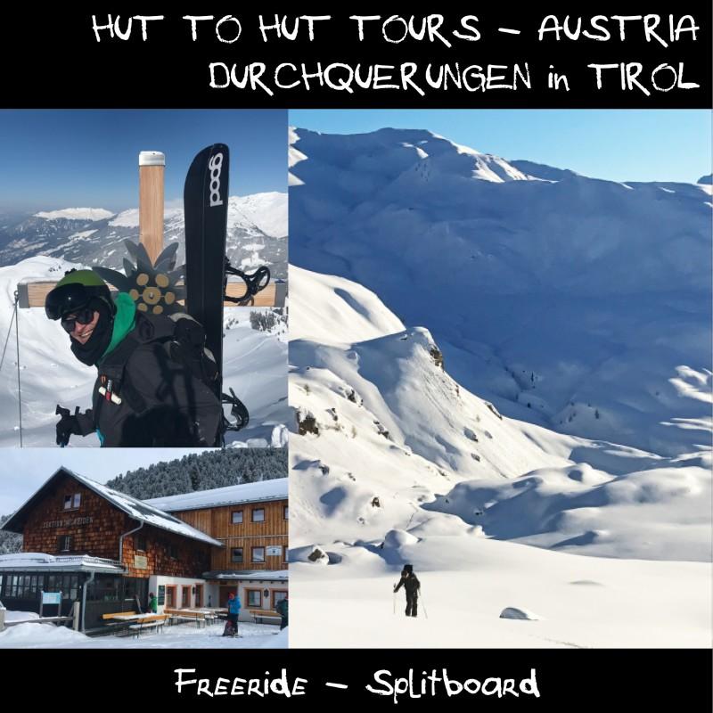 Splitboard Durchquerung Zillertal Tirol Austria